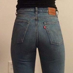 New Levi wedgie straight jeans